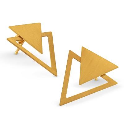 Ohrhänger Dreieck inkl Dreieck Einhänger plattiert