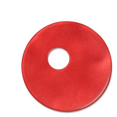 Scheibe Aquarell assym. Acryl 33mm rot