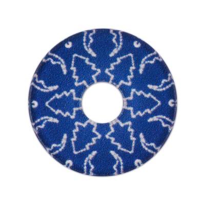 Acryl Scheibe Winter Tanne 28mm Blau