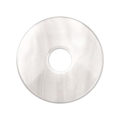 Scheibe Aquarell acryl 28mm weiß