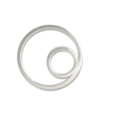 Scheibe Hip, asymmetrischer Rand, 20 mm, rund