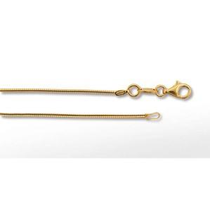 Silberseil Magie rund, 1mm 45cm, goldplattiert