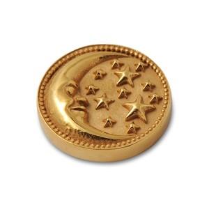 Top Mond 14mm goldplattiert