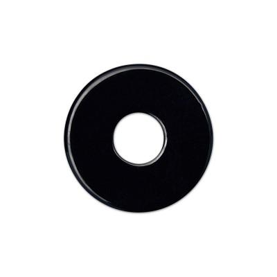 Color Scheibe Acetat schwarz 22mm