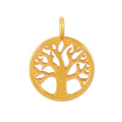 Anhänger Lebensbaum 11mm goldplattiert