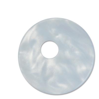 Scheibe Aquarell assym. Acryl 33mm eisblau