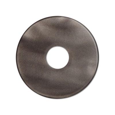 Scheibe Aquarell acryl 28mm dunkelbraun