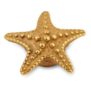 Top Starfish goldplattiert 15mm