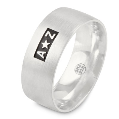 Ring 8 mm, bis 3 Buchstaben/ Sonderzeichen