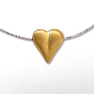Anhänger Herz, goldplattiert