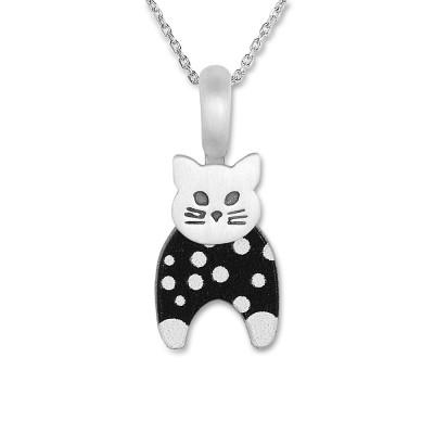 LITTLE FRIENDS; Katze mit Silberkette