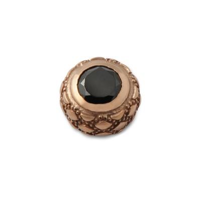 Top Black Glamour 6mm Zirkon schwarz, roséverg