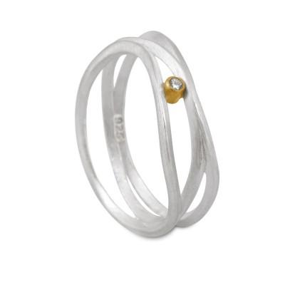 Stixx Ring mit Brillant 0,015 tw si 3 Meridiane
