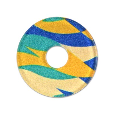 Acryl Scheibe 28mm Waves with yellow