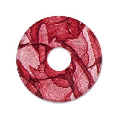 Acryl Scheibe 28mm Chiffon Rot