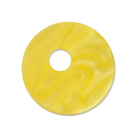 Scheibe Aquarell assym. Acryl 33mm gelb