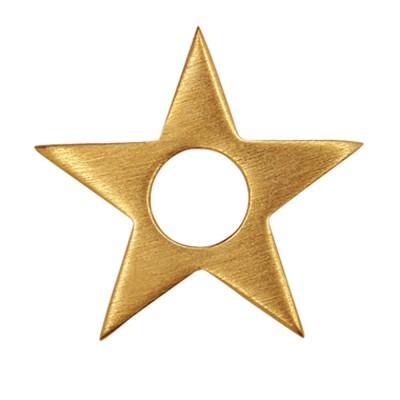 Scheibe Stars 25mm goldplattiert