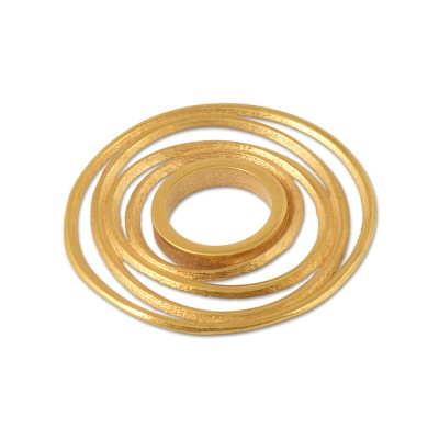 Scheibe STIXX 22 mm, goldplattiert