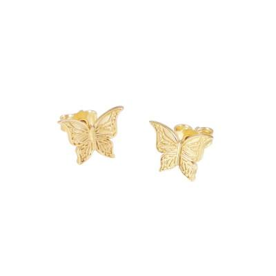 CarlZen Schmetterlings Ohrstecker, goldplattiert