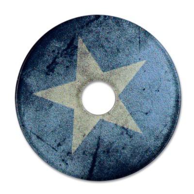 Acryl Scheibe 36mm blue Star