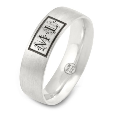 MeinRing, Gravur Ring, 6mm, Monogramm