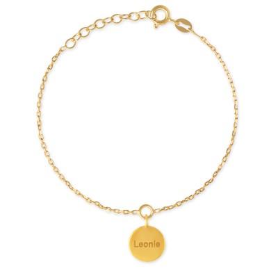 Armkette mit Gravur bis zu 50 Buchstaben, goldplattiert