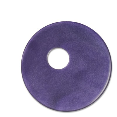 Scheibe Aquarell assym. Acryl 33mm lila
