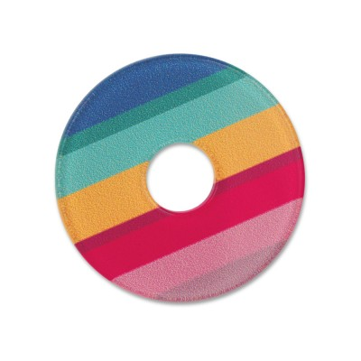 Acryl Scheibe 28mm Color stripes 1