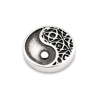 Top Yin und Yang Andaluz 12mm silber geschwärzt