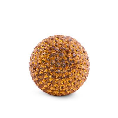 Kristall Klangkugel, 17mm, gold gelb
