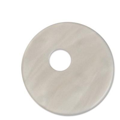 Scheibe Aquarell assym. Acryl 33mm grau