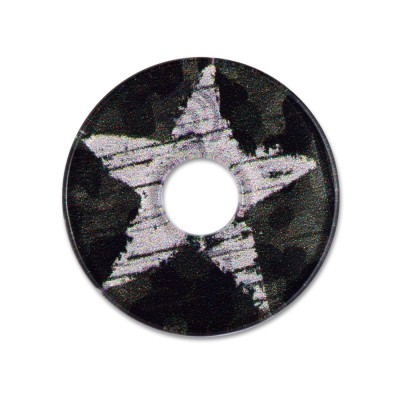 Acryl Scheibe 28mm olive star