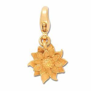 Charm Edelweiss goldplattiert