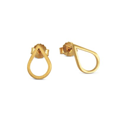 Ohrstecker Drop 9mm x 13mm goldplattiert