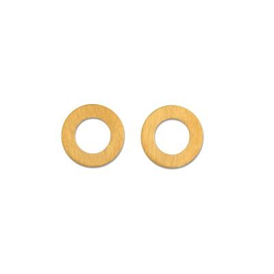 Ohrstecker Kreise, 9 mm, goldplattiert
