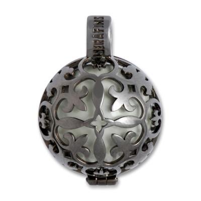 Klangkugel LILLI, 22mm, rutheniert., 925 Silber