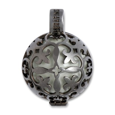 Klangkugel LILLI 22mm, rutheniert, 925 Silber incl. Klangkugel
