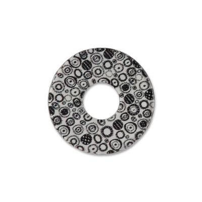 Acryl Scheibe 22mm B/W round pattern