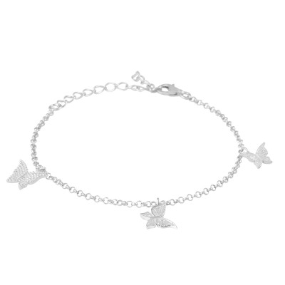 Armband Julia Schmetterlinge Silber