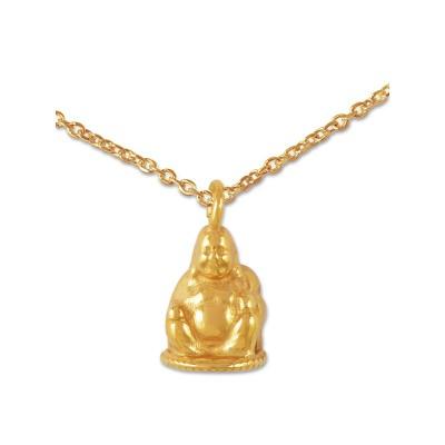 Anhänger Buddha inkl. Silberkette goldplattiert