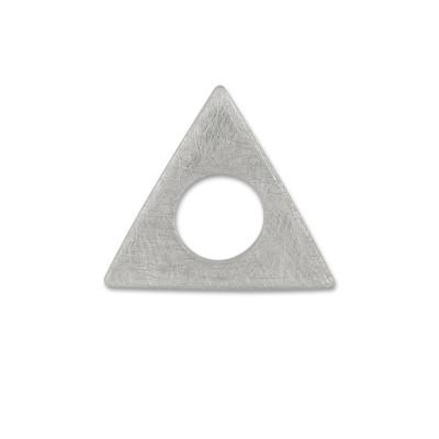 Scheibe Triangel 21mm gekratzt