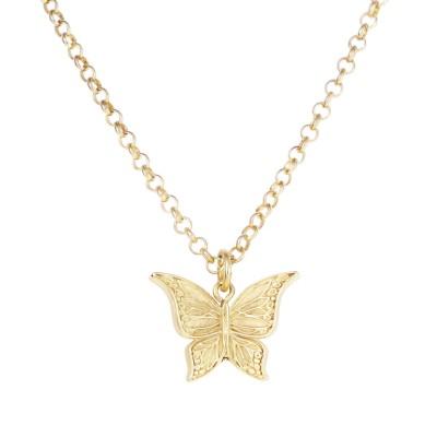 Emi Kette Schmetterling gold plattiert