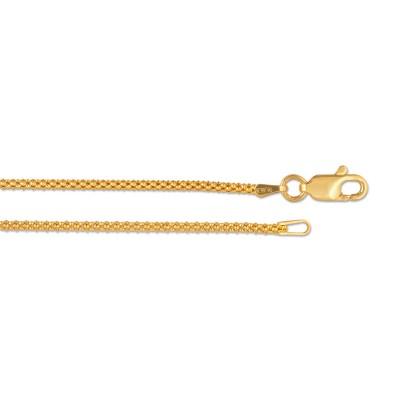 Himbeer Kette 2mm 60cm 925 Silber vergoldet