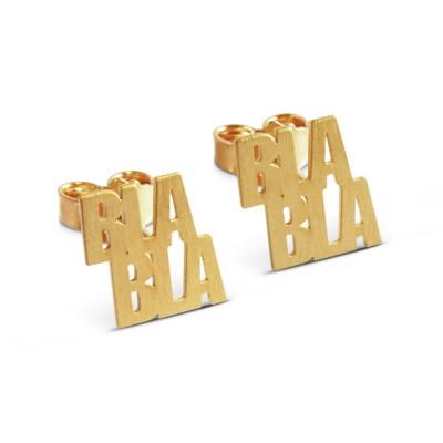 Ohrstecker BLA BLA 9x10mm plattiert