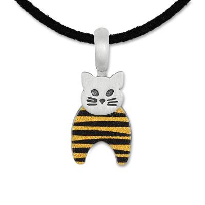 LITTLE FRIENDS; Katze gelb/schwarz 17x11mm