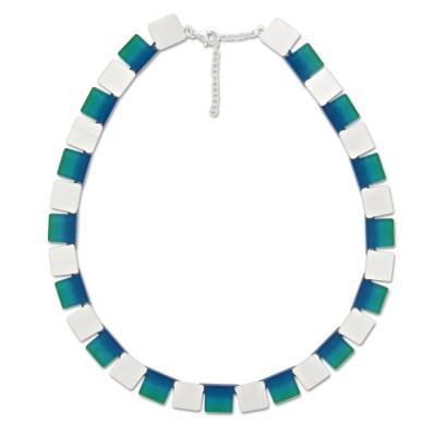 LEVEL4 Collier Quad Blautöne/Verlauf X Elemente