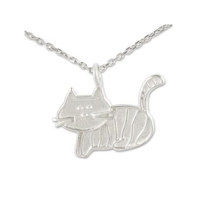 Anhänger Katze*** Relief inkl. Silberkette