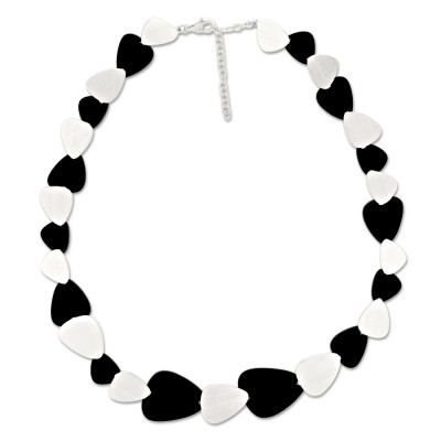 LEVEL4 Collier Oval schwarz X Elemente