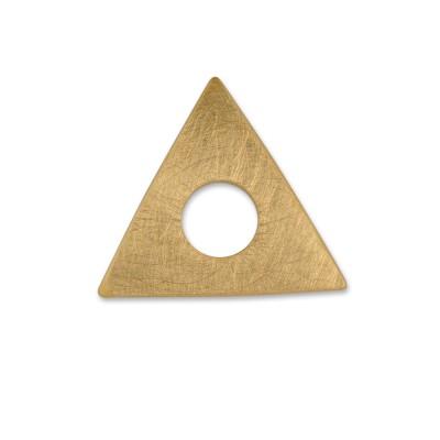 Scheibe Triangel 28mm gekratzt goldplattiert