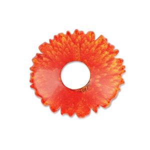 Scheibe Blüte orange 24mm gewölbt